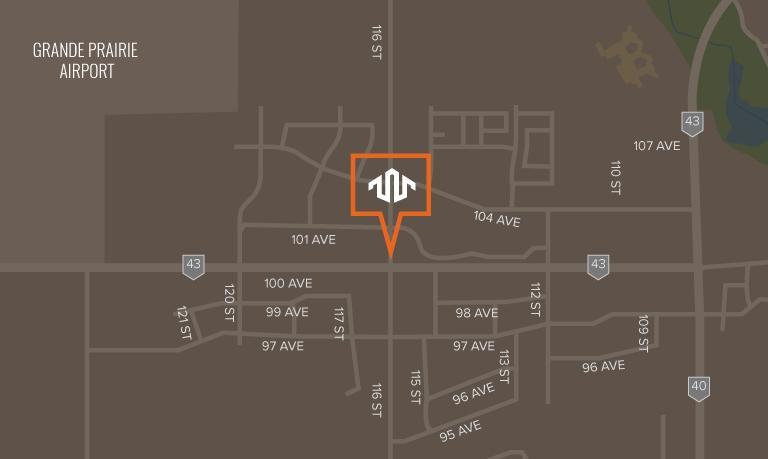 Location of Westgate in Grande Prairie